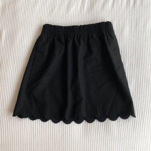 J. Crew Scalloped Sidewalk Skirt